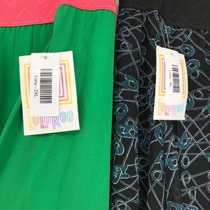 LLR Lucy Skirt Includes Safety Pin Print!  2XL NWT